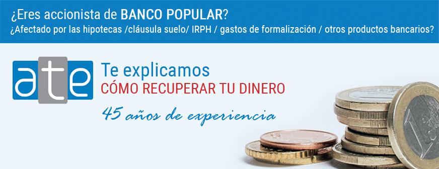 Charla gratuita para afectados de Banco Popular e Hipotecas