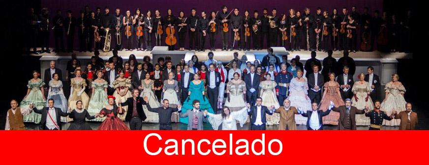¡Viva la música! Espectáculo operístico con orquesta, coro y solistas en escena